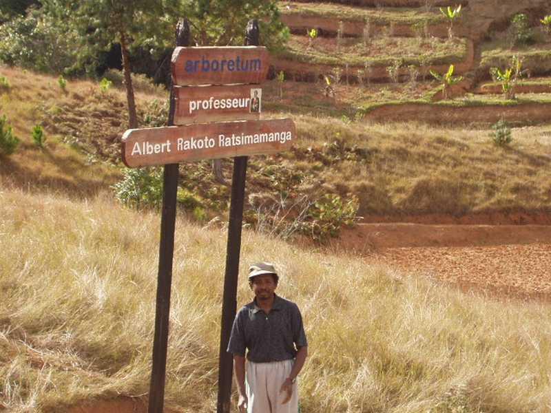 Alfred, le chef de culture de l'arboretum