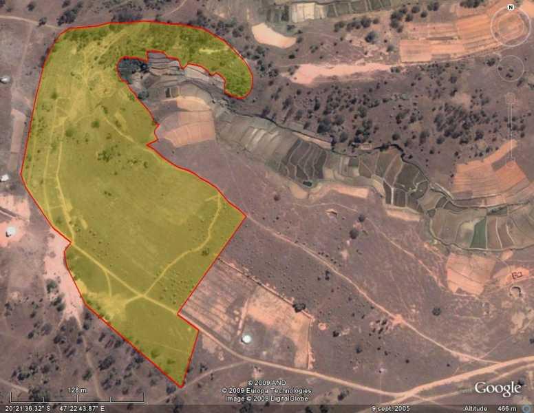 Vue aérienne de l'arboretum